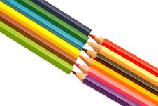 Free Colored Pencils Royalty Free Stock Images - 19219119
