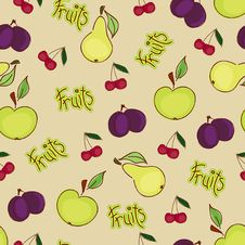 Free Seamless Fruit Wallpaper Royalty Free Stock Photo - 19219215