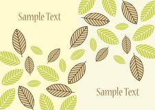 Green Leaves Border Stock Photography