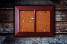Free Photo Frame On Wooden Background Royalty Free Stock Image - 19219426