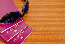 Holiday Passports Stock Photography