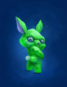 Free A Green Rabbit Stock Images - 19219584