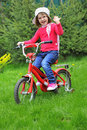 Free Little Girl With Bike Royalty Free Stock Image - 19227916