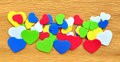 Free Colorful Hearts Cutout On Crepe Paper Stock Photos - 19229263