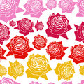 Free Seamless  Pattern Line Roses Royalty Free Stock Photography - 19229367