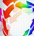 Free Color Arrow Background Royalty Free Stock Photos - 19229788