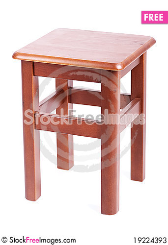 Free Wooden Simple Stool Stock Photos - 19224393