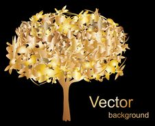 Free Abstract Gold Tree Stock Photography - 19221312