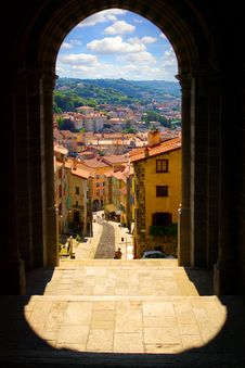 Traditional Architecture Of  Le Pyui, France Stock Photos