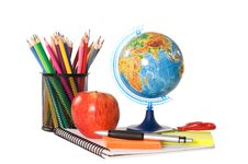 Free The Globe With Pencils Isolated Stock Photo - 19221420