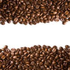 Free Coffee Beans Stripes Royalty Free Stock Photo - 19221885