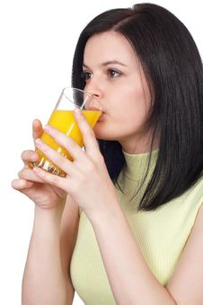 Free Woman With A Glass Of Oranges Juice Stock Photos - 19222753
