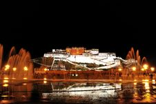 Free Potala Palace Night Stock Photography - 19223292