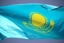 Free Flag Of Kazakhstan Royalty Free Stock Image - 19223376