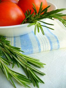 Free Rosemary And Tomatoes Stock Image - 19224261
