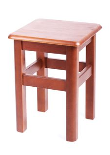 Wooden Simple Stool Stock Photos