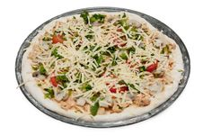 Uncooked Vegetarian Pizza Royalty Free Stock Photos