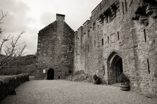 Castle Entrance Royalty Free Stock Images
