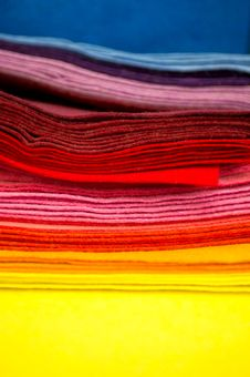 Free Colorful Fabric Samples Royalty Free Stock Photography - 19225007