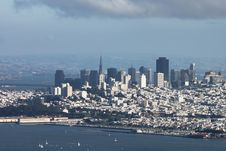 Distant View Of Downtown San Francisco Stock Image