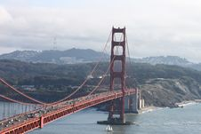 Golden Gate Bridge - Facing South Royalty Free Stock Photo
