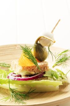 Vegetarian Appetizer Stock Image