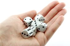 Free Hand Holding Dice Play Game Stock Image - 19226181