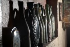 Vintage Wine Cellar Royalty Free Stock Photography