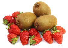 Free Strawberry And Kiwi Stock Image - 19227621