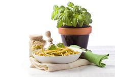 Free Pasta With Pesto Stock Photo - 19227770