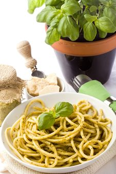 Free Pasta With Pesto Stock Images - 19227784