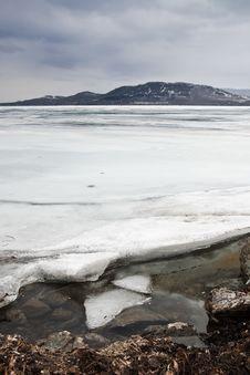 Free Ice On The Coast Of Lake Stock Photo - 19227800