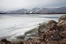 Free Ice On The Coast Of Lake Stock Photo - 19227810