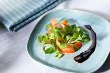 Free Lamb S Lettuce With Carrot And Balsamic Vinegar Stock Photo - 19229910