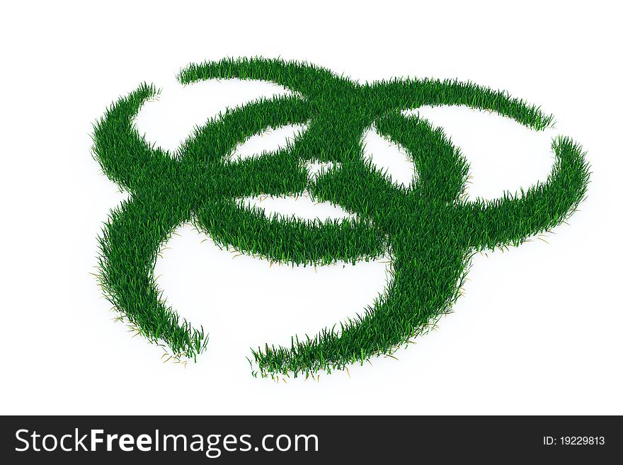 Biohazard Symbol From Grass Free Stock Images Photos 19229813