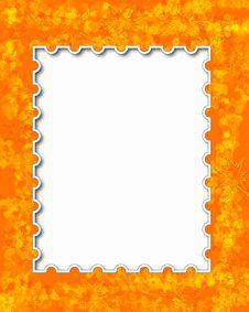 Free Orange Floral Frame Royalty Free Stock Photo - 19230055
