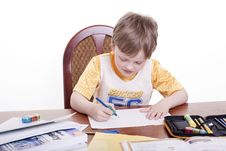 Free Boy With Pencil Royalty Free Stock Image - 19230106