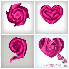 Free Origami Concept, Love Theme Background Royalty Free Stock Photos - 19230158