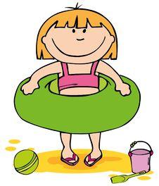Free Little Girl On The Beach Stock Photos - 19230403