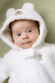 Free Baby Boy In A Bear Suit Royalty Free Stock Photography - 19230447