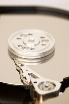 Free Close Up Of Open Hard Disk Royalty Free Stock Photography - 19230497