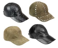 Four Caps Isolated On White Stock Photography