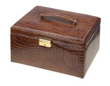 Free Brown Leather Box Royalty Free Stock Photo - 19230715