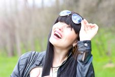 Free Beautiful Young Woman Wearing Sunglasses Stock Photo - 19231240