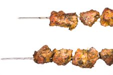 Skewers Of Barbecue Stock Image