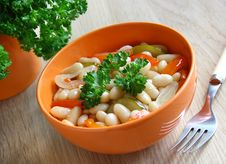Free A Bowl Of Stewed Beans And Vegetables. Stock Image - 19232921