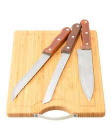 Free Set Of Kitchen Knives Royalty Free Stock Image - 19233386