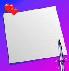 Free Pen And  Message Stock Image - 19233881