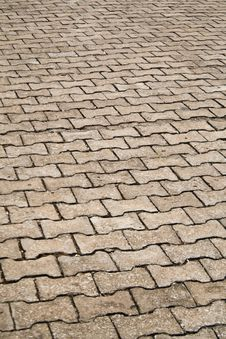 Free Brick Floor Background Stock Photography - 19234192