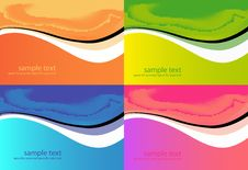 Free Abstract Backgrounds Set. Royalty Free Stock Photo - 19236025